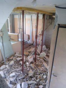 rénovation intérieure pavillon Essonne suppression de mure porteur