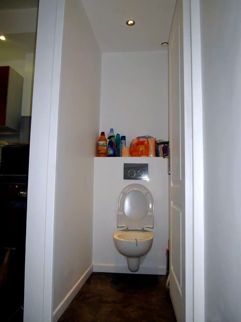 Rénovation WC : remplacement des toilettes par des wc suspendu, mise en peinture des murs et plafond, création faux plafond, raccordement VMC et spots LED.